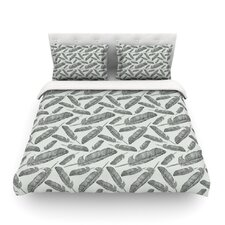 Feather Scene by Sam Posnick Cotton Duvet Cover