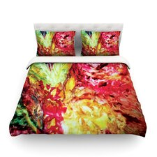 Passion Flowers I Light by Mary Bateman Cotton Duvet Cover