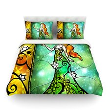 Fairy Tale Frog Prince by Mandie Manzano Light Cotton Duvet Cover