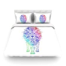 Rainbow Lion by Monika Strigel Light Cotton Duvet Cover