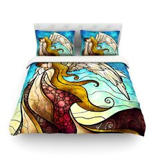 In The Arms Of The Angel by Mandie Manzano Light Cotton Duvet Cover