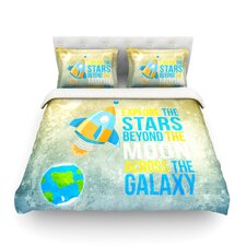 Explore the stars by Nick Atkinson Cotton Duvet Cover