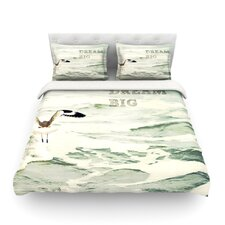 Dream Big by Robin Dickinson Ocean Bird Cotton Duvet Cover