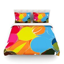 Bubbles Light by Matthias Hennig Rainbow Circles Cotton Duvet Cover