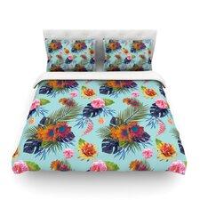 Tropical Floral by Nika Martinez Light Cotton Duvet Cover