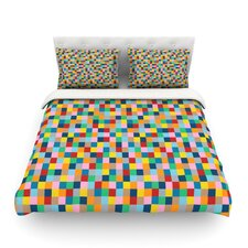 Colour Blocks by Project M Geometric Rainbow Cotton Duvet Cover