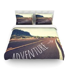 Adventure by Sylvia Cook Desert Road Cotton Duvet Cover