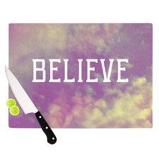 Believe by Rachel Burbee Clouds Cutting Board