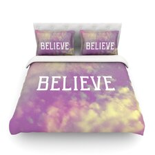 Believe by Rachel Burbee Clouds Cotton Duvet Cover