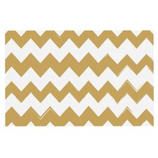 Candy Cane Chevron Decorative Doormat