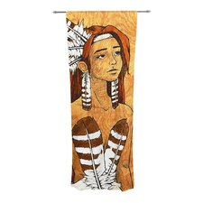 Owl Feather Dress Curtain Panels (Set of 2)