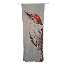 Downy Woodpecker Curtain Panels (Set of 2)