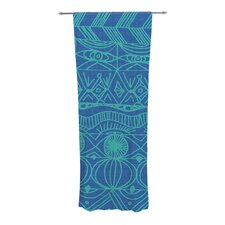 Beach Blanket Confusion Curtain Panels (Set of 2)