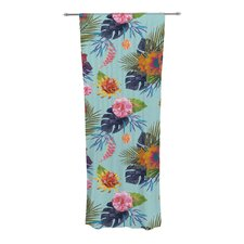 Tropical Floral Curtain Panels (Set of 2)