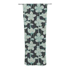 My Gray Spotted Flowers Curtain Panels (Set of 2)