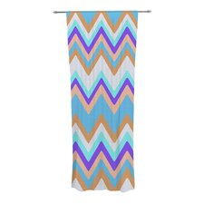 Girly Surf Chevron Curtain Panels (Set of 2)