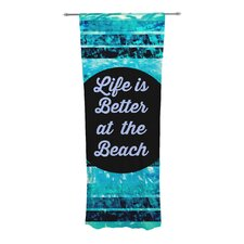 Life is Better at the Beach Curtain Panels (Set of 2)