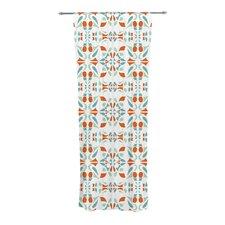 Italian Kitchen Orange Green Curtain Panels (Set of 2)