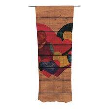 Wooden Heart Curtain Panels (Set of 2)