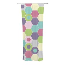 Pale Bee Hex Curtain Panels (Set of 2)