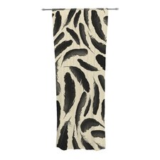 Feather Pattern Curtain Panels (Set of 2)