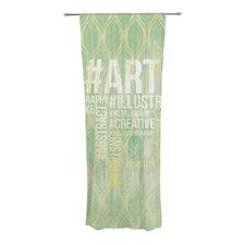 Hashtag Curtain Panels (Set of 2)