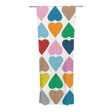 Diamond Hearts Curtain Panels (Set of 2)
