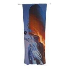 Volcano Girl Curtain Panels (Set of 2)