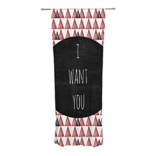 I Want You Curtain Panels (Set of 2)