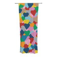 More Hearts Curtain Panels (Set of 2)