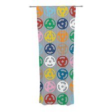 Roll With It On Gray Curtain Panels (Set of 2)