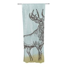 Elk Scene Curtain Panels (Set of 2)