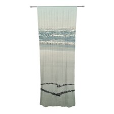 I Love The Beach Curtain Panels (Set of 2)