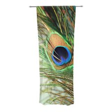 Peacock Feather Curtain Panels (Set of 2)