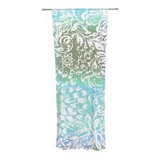 Blue Bloom Softly for You Curtain Panels (Set of 2)