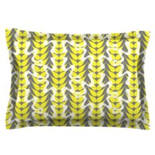 Whirling Leaves by Miranda Mol Woven Pillow Sham