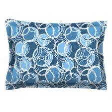 Simple Circles by Julia Grifol Woven Pillow Sham