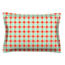 Retro Circles by Catherine McDonald Woven Pillow Sham