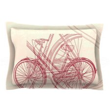 Bicycle by Sam Posnick Woven Pillow Sham