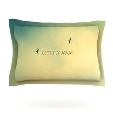 Let's Fly Away by Richard Casillas Woven Pillow Sham