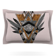 Indian Feather by Vasare Nar Woven Pillow Sham