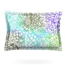 Blue Bloom Softly for You by Vikki Salmela Woven Pillow Sham