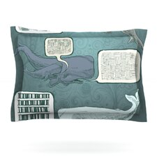 Whale Talk by Sophy Tuttle Woven Pillow Sham