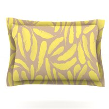 Yellow Feather by Skye Zambrana Woven Pillow Sham