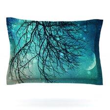 Winter Moon by Sylvia Cook Woven Pillow Sham