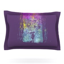 Purple Rain by Frederic Levy-Hadida Woven Pillow Sham