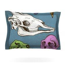 Skulls by Sophy Tuttle Woven Pillow Sham
