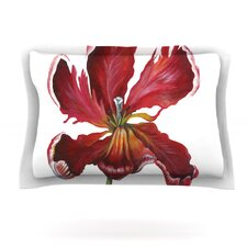 Open Tulip by Lydia Martin Woven Pillow Sham