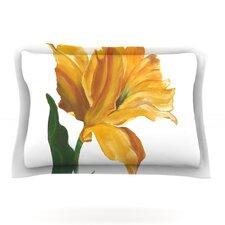 Yellow Tulip by Lydia Martin Woven Pillow Sham