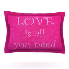 Love is all you need by Iris Lehnhardt Woven Pillow Sham